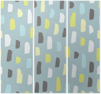 Drieluik Abstract patroon