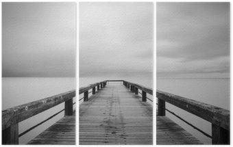 Drieluik Lunga Esposizione in bianco e nero