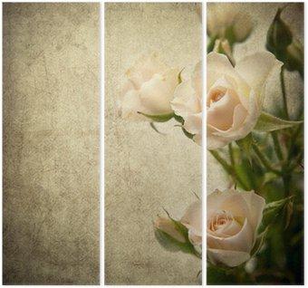 Drieluik Rose textuur