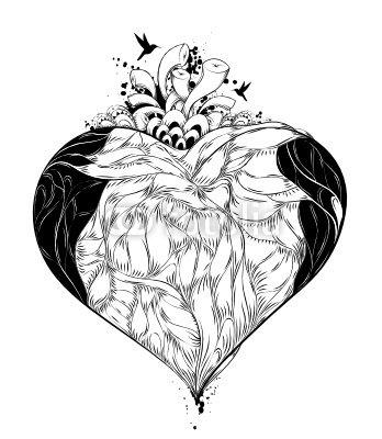 Duvar Çıkartması Kalp