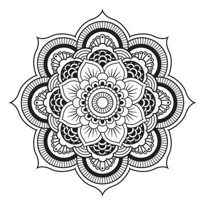 Duvar Çıkartması Mandala. Yuvarlak Süs Desen