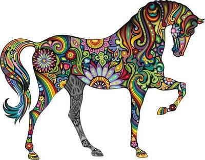 Duvar Çıkartması Neşeli atı