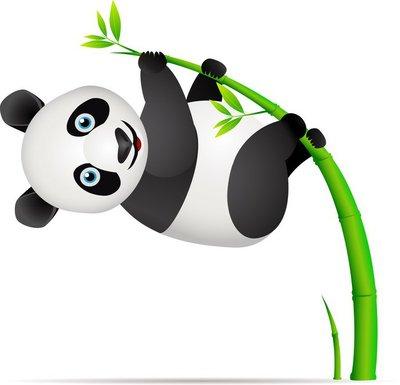 Duvar Çıkartması Panda ve bambu ağacı