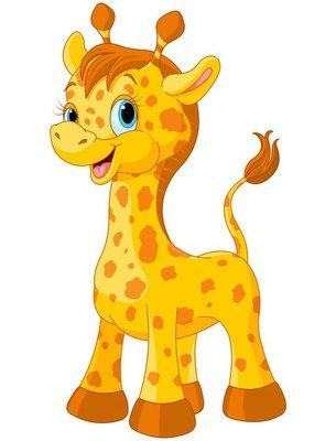 Duvar Çıkartması Sevimli zürafa