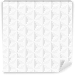 Vinil Duvar Kağıdı 3d beyaz geometrik arka plan