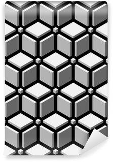 Vinil Duvar Kağıdı 3d bloklar sorunsuz desen