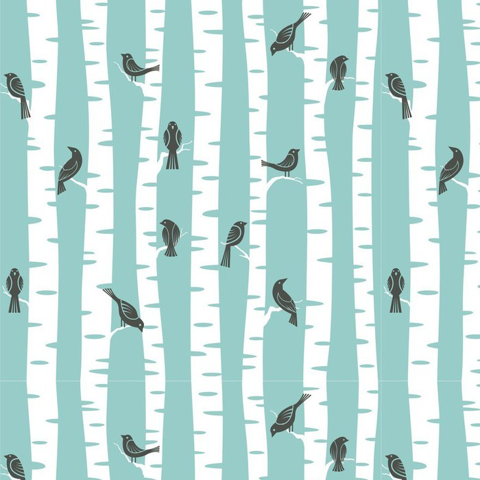 Pixerstick Duvar Kağıdı Ağaçlar desen - Diğer Diğer