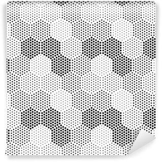Vinil Duvar Kağıdı Altıgen Illusion Desen