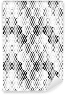 Pixerstick Duvar Kağıdı Altıgen Illusion Desen
