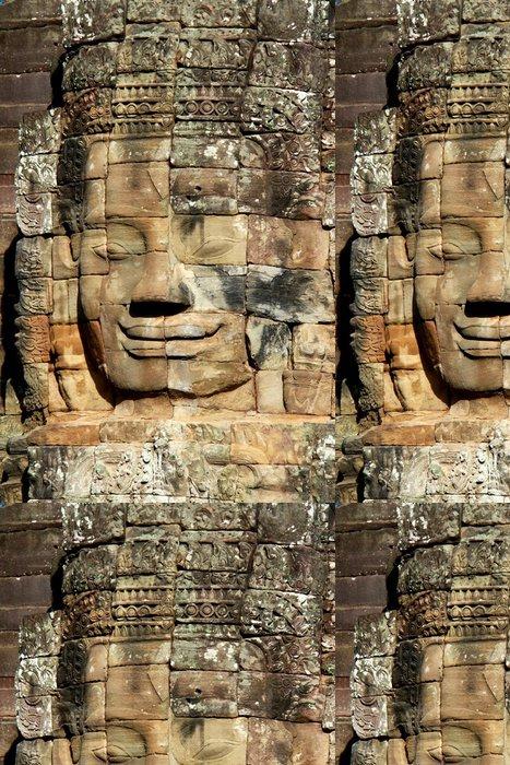 Vinil Duvar Kağıdı Angkor Wat taş yüzü - Asya