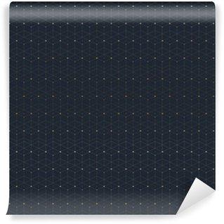 Vinil Duvar Kağıdı Bağlı hat ve noktalarla geometrik seamless pattern. Grafik arka plan bağlantısı. tasarım için modern, şık çokgen zemin. Vector illustration.