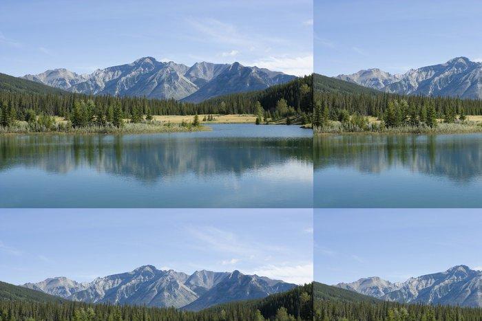 Vinil Duvar Kağıdı Banff Ulusal Parkı Cascade Göleti - Dağlar