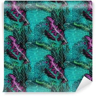 Vinil Duvar Kağıdı Batik desen