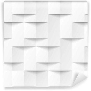Vinil Duvar Kağıdı Beyaz kesintisiz geometrik doku