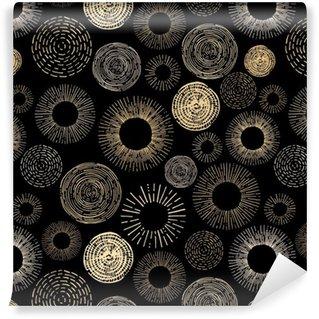 Vinil Duvar Kağıdı Çember seamless pattern