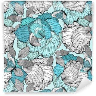 Pixerstick Duvar Kağıdı Çiçek Desen Dikişsiz Arkaplan
