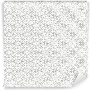 Vinil Duvar Kağıdı Çiçek geleneksel süsleme, düğün sorunsuz desen, bacground tasarım, vektör çizim