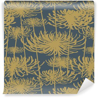 Pixerstick Duvar Kağıdı Çiçek seamless pattern vintage stili