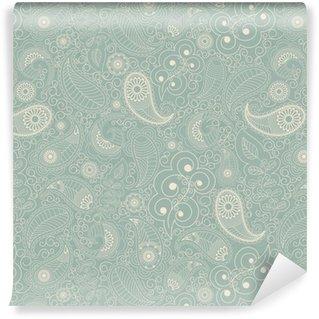 Vinil Duvar Kağıdı Çiçek yeşil Dikişsiz arka plan