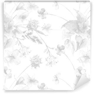 Vinil Duvar Kağıdı Çiçekler ile Seamless pattern
