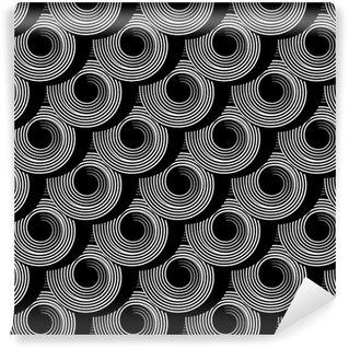 Vinil Duvar Kağıdı Daire spiral elemanları ile sorunsuz desen.