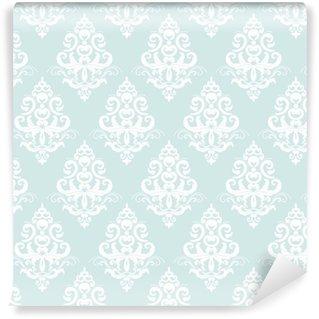 Vinil Duvar Kağıdı Damask seamless pattern background