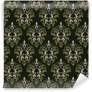 Vinil Duvar Kağıdı Damask seamless pattern background