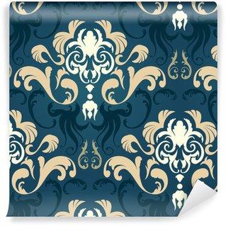 Vinil Duvar Kağıdı Damask seamless pattern