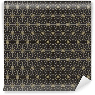Pixerstick Duvar Kağıdı Dikişsiz antika palet eski japon asanoha izometrik model vektör