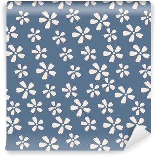 Vinil Duvar Kağıdı Dikişsiz Desen Çiçek