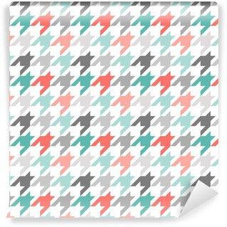 Vinil Duvar Kağıdı Dikişsiz desen Houndstooth, renkli