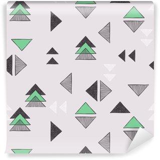 Vinil Duvar Kağıdı Dikişsiz elle çizilmiş üçgenler desen.