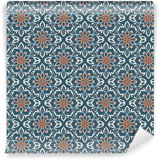 Pixerstick Duvar Kağıdı Dikişsiz elle mandala desen çizilmiş.