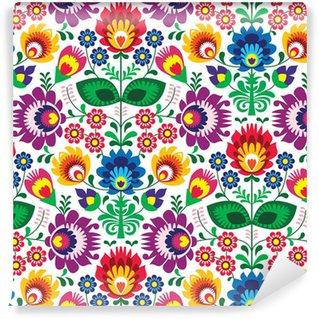 Pixerstick Duvar Kağıdı Dikişsiz geleneksel çiçek lehçe model - etnik köken