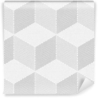 Vinil Duvar Kağıdı Dikişsiz geometrik op sanat desen.