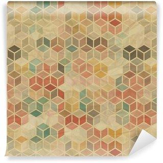 Pixerstick Duvar Kağıdı Dikişsiz retro, geometrik desen.