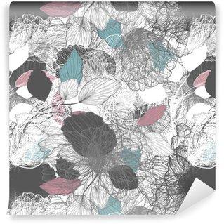 Pixerstick Duvar Kağıdı Dikişsiz soyut floral pattern