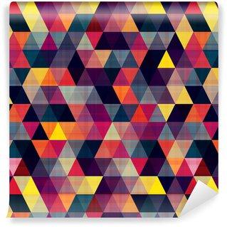 Vinil Duvar Kağıdı Dikişsiz üçgen arka plan