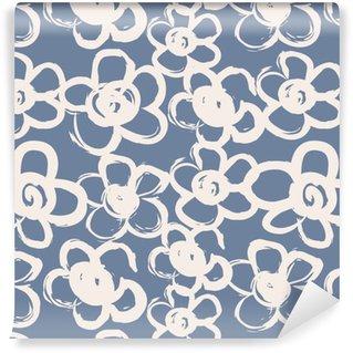 Pixerstick Duvar Kağıdı Elle çizilmiş çiçekler ile Seamless pattern