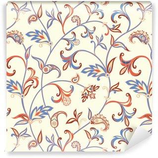 Pixerstick Duvar Kağıdı Floral seamless pattern. Çiçek girdap arka plan. fantastik çiçek ve yaprakları ile Arapça süsleme.