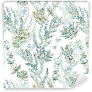 Pixerstick Duvar Kağıdı Floral seamless pattern. s