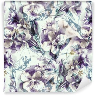 Vinil Duvar Kağıdı Floral seamless pattern