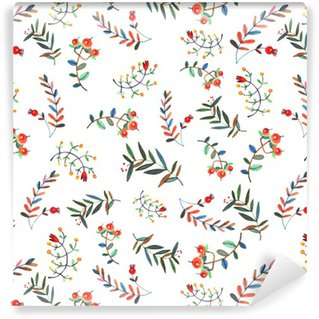 Pixerstick Duvar Kağıdı Floral seamless pattern