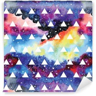 Pixerstick Duvar Kağıdı Galaxy seamless pattern.