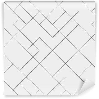 Vinil Duvar Kağıdı Geometrik basit siyah ve beyaz minimalist desen, diyagonal ince çizgiler. duvar kağıdı, arka plan veya doku olarak kullanılabilir.
