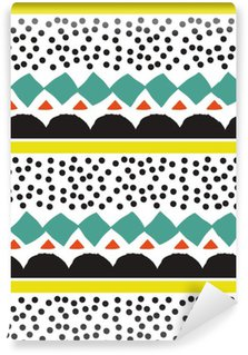 Pixerstick Duvar Kağıdı Grafik geometrik elemanlar ile Seamless pattern