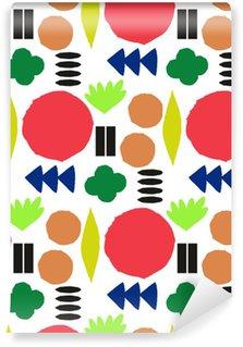 Vinil Duvar Kağıdı Grafik geometrik elemanlar ile Seamless pattern