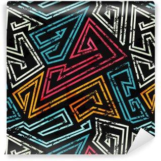 Pixerstick Duvar Kağıdı Grunge etkisi ile grafiti sorunsuz desen