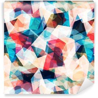 Vinil Duvar Kağıdı Grunge etkisi ile renkli mozaik seamless pattern