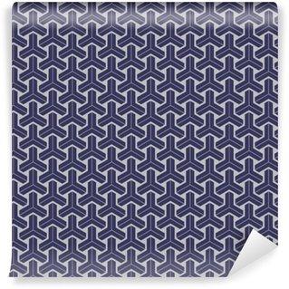 Pixerstick Duvar Kağıdı Japon geometrik sorunsuz desen tasarımı doku